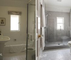 before and after small bathroom remodeling