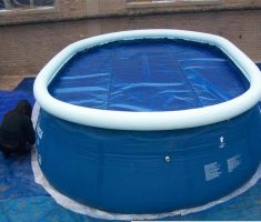 big plastic garden pool