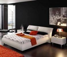 black-and-white-masculine-bedroom-for-men