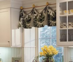 black and white valance kitchen window treatment ideas