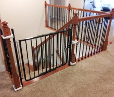 black metal small baby gates for stairs with no walls