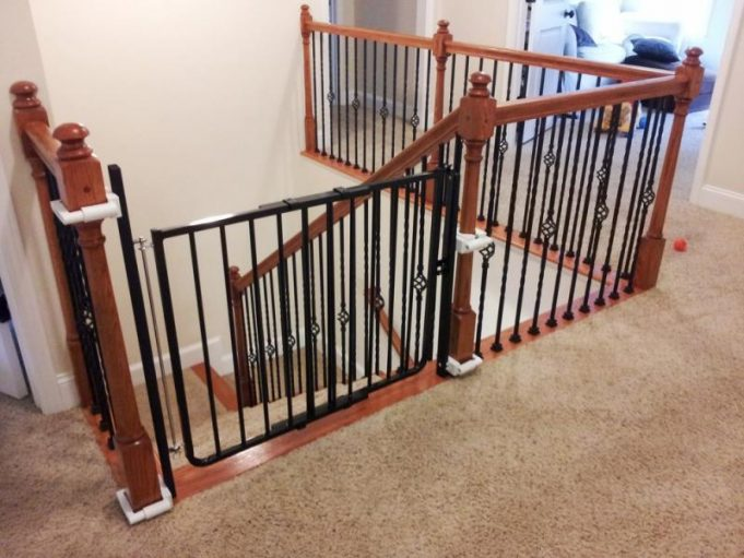 black-metal-small-baby-gates-for-stairs-with-no-walls