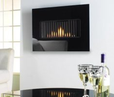 black modern elegant wall mounted appliances for small apartment
