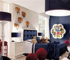 blue and white boys room ideas