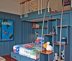 blue boy room ideas with bunk beds ascent themes