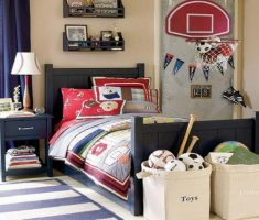 boys room ideas with basketball