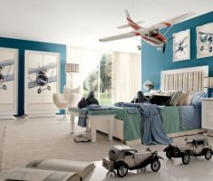 boys room ideas with plane wall decorations