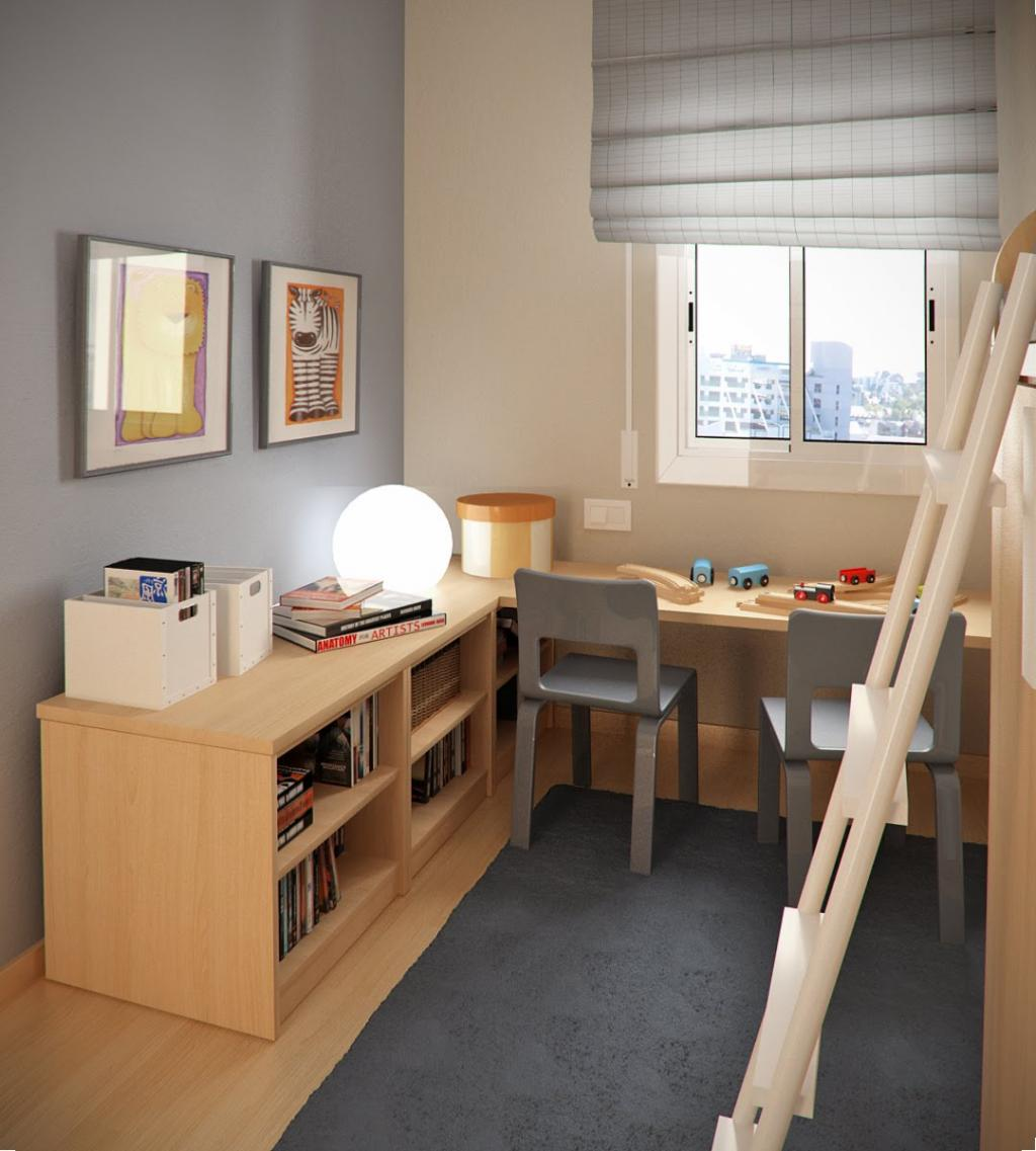 boy room ideas small spaces with small study table