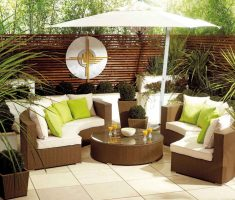 captivating-brown-rattan-corner-sofa-with-white-cushions