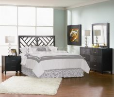 captivating modern mirrored headboard bedroom set