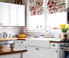captivating small kitchen with flowers kitchen window treatment ideas