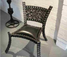chain recycled metal furniture chair