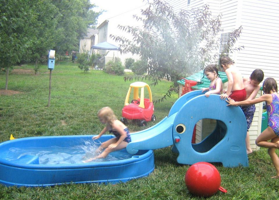 Kids Pools With Slides unique-and-cute-plastic-garden-pool-for-baby-and-kids-with-slide