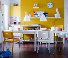 cheerfull yellow kitchen remodelling