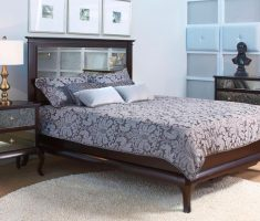 classic mirrored headboard bedroom set