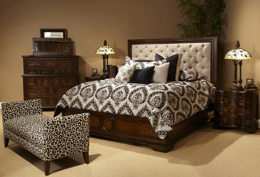 classical-cushion-headboard-bedroom-sets-with-wooden-bedrooms-furniture