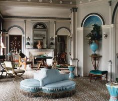 classical-modern-victorian-french-style-interior-design-living-area-with-blue-furniture