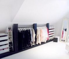 closet hanger clothes attic storage ideas with drawers
