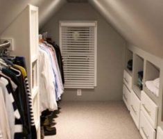 clothes hanger attic storage ideas