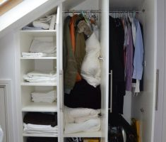 clothes storage attic storage ideas