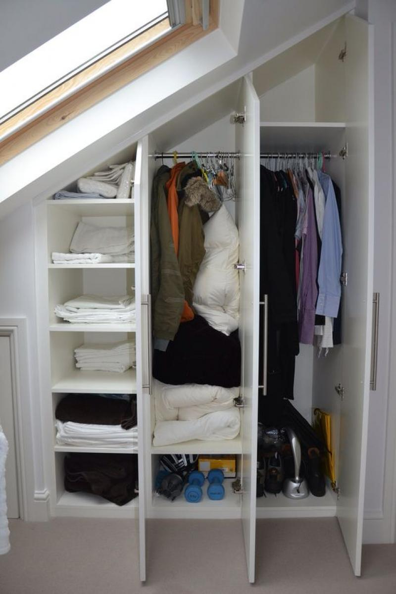 Clothes Storage Attic Storage Ideas Home Inspiring