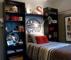 cool boy room ideas small spaces with shelves furniture
