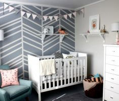 cool modern baby girl rooms with grey wall colors theme decor