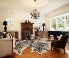 cool-victorian-edwardian-style-interior-design-with-zebra-rug-carpet
