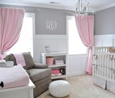 cozy nursery baby girl rooms grey and pink theme