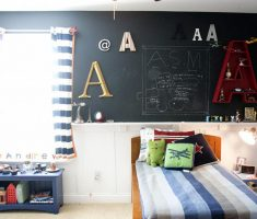 creative boys room ideas with alphabet wall decor