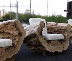 creative reclaimed recycled wood furniture for sofa chairs