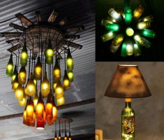 creative recycled furniture ideas wine bottle for chandeliers