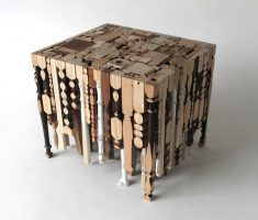 creative wooden small table recycled furniture