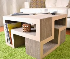 creatvie cardboard recycled furniture paper for table shelving