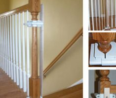 custom baby gates for stairs with no walls