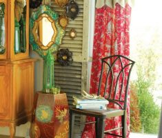 cute bohemian interior design ideas with rustic reading chair
