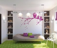 cute modern rooms for teenage girls with green grass rug floor and futuristic modern sofa