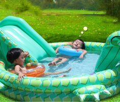cute plastic garden pool inflantable