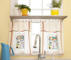 cute diy kitchen window treatment ideas