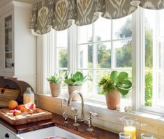 cute valance kitchen window treatment ideas