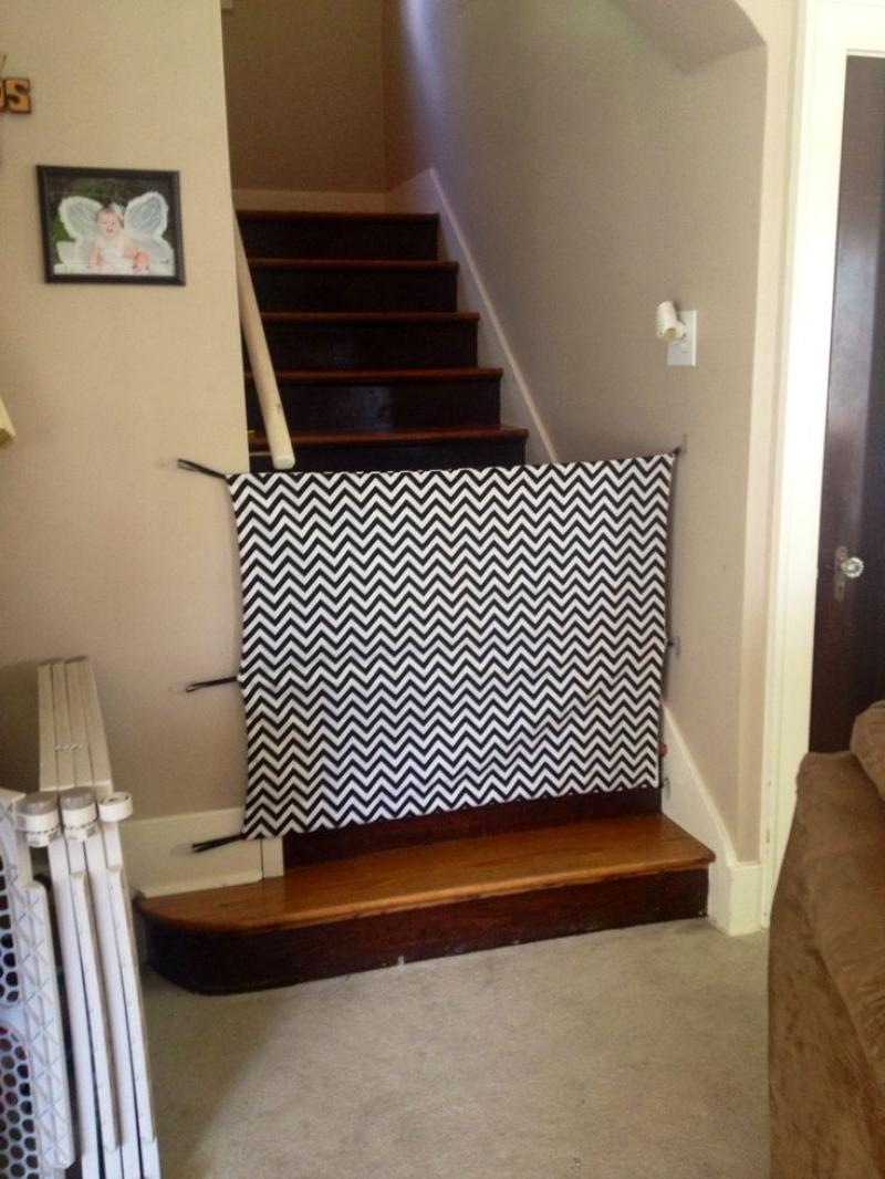 Diy Baby Gates For Stairs Fabric Material
