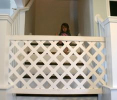diy baby gates for stairs white wooden