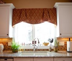 diy brown kitchen window treatment ideas