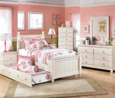 double bed white bedroom furniture for girls with drawers
