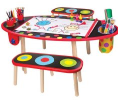 drawing children art tables and desks