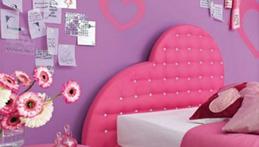 elegant-wall-stickers-girls-bedrooms-with-hearth-shapes