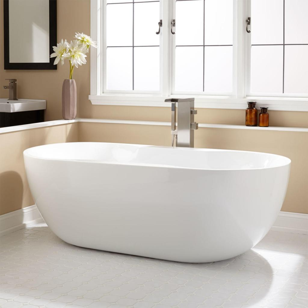 Elegant acrylic kohler freestanding bathtubs home inspiring for Free standing bath tub