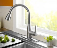 elegant chrome delta kitchen faucets single handled pull down