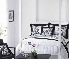 enchanting black and white bedroom for woman