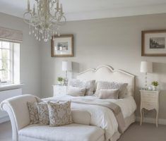 enchanting gloss white bedroom furniture with chandelier and ottoman